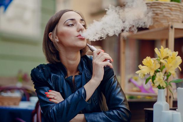 Warning: The HSE does not encourage vaping as a way of stopping smoking. Stock picture