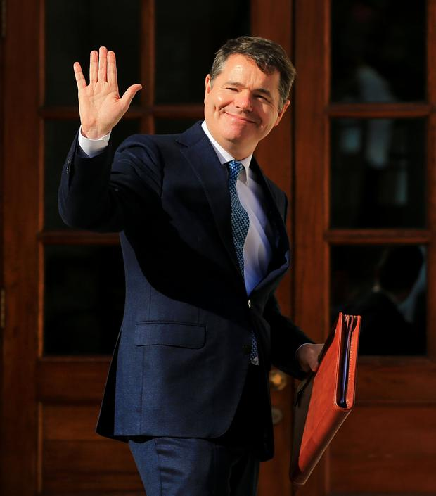 It's that time again: Finance Minister Paschal Donohoe presenting his Budget last October. Photo: Gerry Mooney