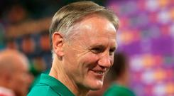 Ireland head coach Joe Schmidt reacts after the final whistle. Photo: Adam Davy/PA Wire