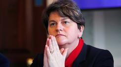 Furious: DUP leader Arlene Foster attacked the Taoiseach. Picture: Reuters