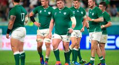 Ireland players react after the final whistle against Russia