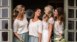 Ailbhe Garrihy pictured with her bridesmaids Photo: Mrsredhead Photography