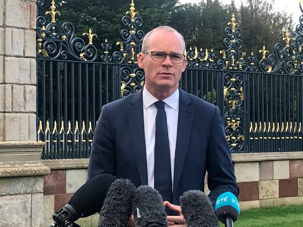 Row: Simon Coveney refused to get into a spat with Foster. Picture: PA