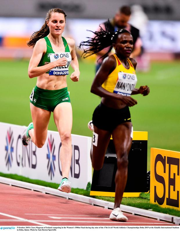Ciara Mageean of Ireland competing in the Women's 1500m Final