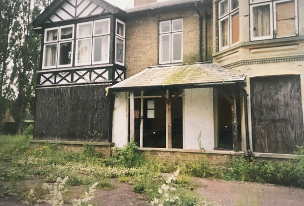 REBEL WITH A CAUSE: A derelict mansion in Fenstanton, Cambridgeshire, owned by Billy Hampton, who left the vast majority of the fortune that he inherited from his father to Sinn Fein
