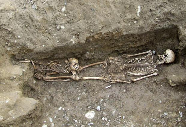 The skeletons of Famine victims placed in mass graves. Academic Dr Jonny Geber says he feels a responsibility to tell their stories so that 'they will not be forgotten'