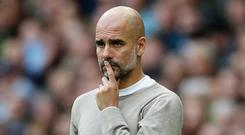 Manchester City manager Pep Guardiola. Photo: Carl Recine/Action Images via Reuters