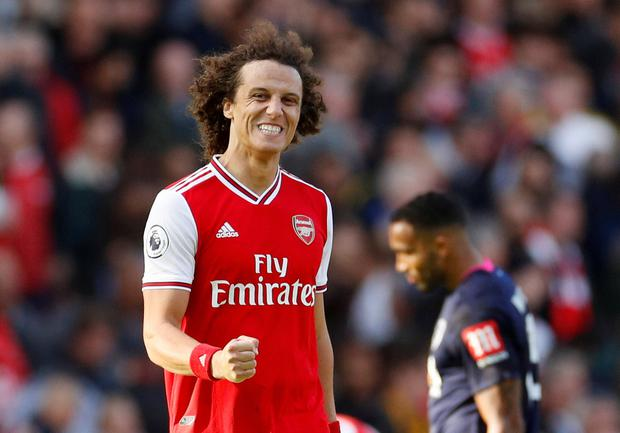 Luiz's glancing header from Nicolas Pepe's ninth-minute corner ended up settling the contest - with Emery praising the defender after the game. Photo: Action Images via Reuters/John Sibley