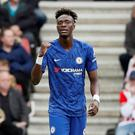 On form: Tammy Abraham scored Chelsea's first goal, and his eighth of the season, in yesterday's defeat of Southampton. Photo: David Klein/Reuters