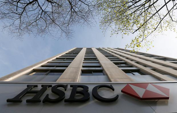 The HSBC bank logo is pictured at the bank headquarters in Paris. Photo: REUTERS/Gonzalo Fuentes/File Photo