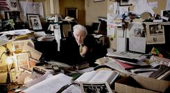 Man of letters: Ulick O'Connor at his home in Rathgar in 2008. Photo: David Conachy