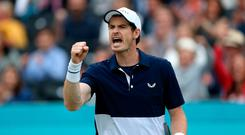 Andy Murray had a fiery exchange with Fabio Fognini. Photo credit should read Steven Paston/PA Wire.