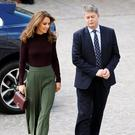 Britain's Catherine, Duchess of Cambridge, and Museum Director Michael Dixon arrive for the visit of the Angela Marmont Centre at the Natural History Museum in London, Britain October 9, 2019. REUTERS/Peter Nicholls