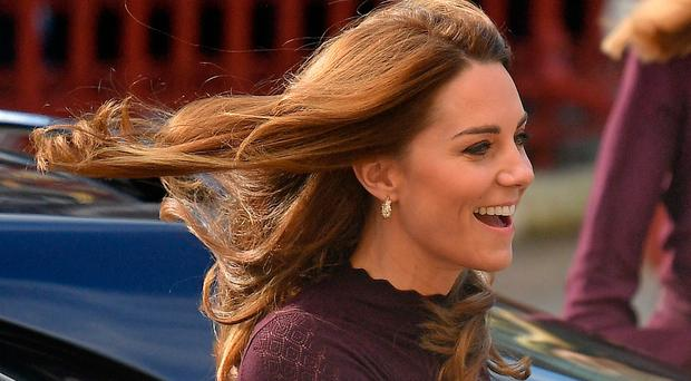 Britain's Catherine, Duchess of Cambridge arrives to vist the Natural History Museum in London on October 9, 2109,