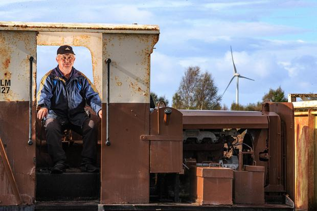 Home turf: Colm Deevey, from Kilcormac, used to work for Bord na Móna in a briquette factory, but now rents out bikes to visitors at Lough Boora Discovery Park. Photo: Mark Condren
