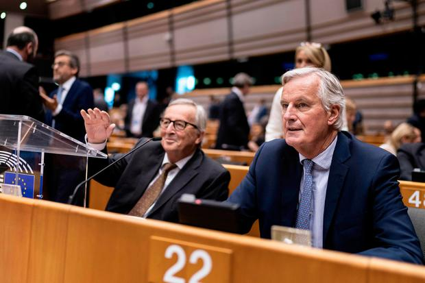 Time running out: European Commission President Jean-Claude Juncker (left) and European Union chief Brexit negotiator Michel Barnier. Picture: Getty