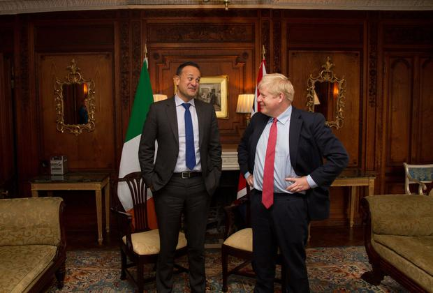 Boris Johnson and Leo Varadkar at Thornton Manor. Photo: @leovaradkar twitter