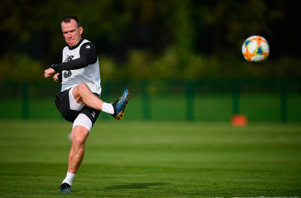 Vintage class: Glenn Whelan's revival under new boss Mick McCarthy was key to his career choice in joining Hearts. Photo: Stephen McCarthy/Sportsfile