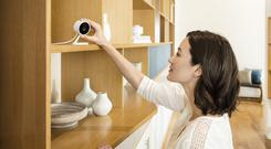 Eye of AI: The Amazon Cloud Cam is marketed as a security device that monitors homes day and night. Stock picture