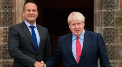 Taoiseach Leo Varadkar shakes hands with British Prime Minister Boris Johnson. Photo: Getty Images