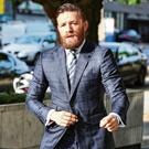 Allegation: Conor McGregor arriving at court in Dublin yesterday. Photo: Steve Humphreys