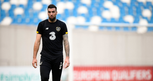 The Derryman was told not to train by McCarthy on Thursday due to medical advice received from Brighton, but he participated in the pre-match training session at the Dinamo Arena. Photo by Stephen McCarthy/Sportsfile