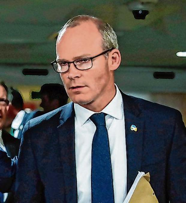 Confidential briefings: Foreign Affairs Minister Simon Coveney. Photo: Stephanie Lecocq/Reuters