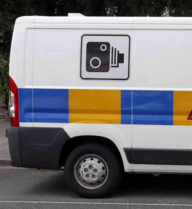 A speed camera van