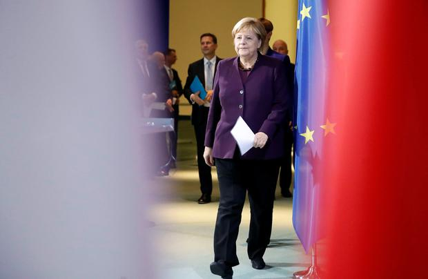 'The thought of a divide in Ireland is surely anathema to Merkel's core instincts.' Photo: Reuters/Axel Schmidt