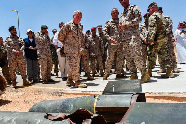 Claim: Saudis show US troops alleged Iranian weapons. Photo: Getty Images