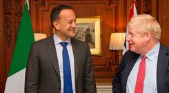 Taoiseach meeting with Prime Minister Boris Johnson at Thornton Manor Hotel, on The Wirral, Cheshire, ahead of private talks in a bid to break the Brexit deadlock as the departure deadline looms. UK Leo Varadkar/PA Wire