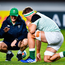 Ireland head coach Joe Schmidt, left, with Josh Van der Flier