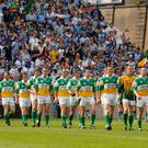 Offaly were last in a senior Leinster Football Final back in 2006 when they faced Dublin. Photo: Ray McManus / Sportsfile