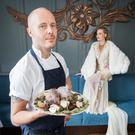 BIG SUCCESS: The Greenhouse chef Mickael Viljanen — pictured here with Sarah Morrissey launching an Irish International Fashion and Food Summit — was awarded two stars