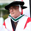 UCD honour: University College Dublin conferred an Honorary Degree of Doctor of Arts on poet Ciaran Carson in June 2011. Photo: Shane O'Neill / Fennells