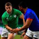 Jordan Larmour: Putting his hand up for quarter-final start. Photo by Brendan Moran/Sportsfile