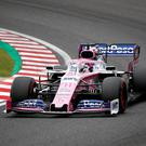 Sergio Perez in action during practice. Photo: Kim Hong-Ji/Reuters