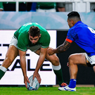 Roll the dice: We know what we'll get from Rob Kearney but Jordan Larmour is a gamble worth taking. Photo by Brendan Moran/Sportsfile