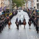 Members of the public line the High Street in Oxford to pay their respects as the funeral cortege for PC Andrew Harper Photo credit: Aaron Chown/PA Wire
