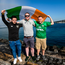 Ireland supporters, from left, Paddy McGarry, Brian Murphy and Shane Gill from Longford in Geneva ahead of the Euro 2020 qualifier against Switzerland. Photo: Stephen McCarthy/Sportsfile