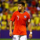 Chile's Alexis Sanchez reacts during the recent friendly against Colombia in Alicante, Spain. Photo: Reuters/Javier Barbancho