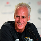 Ireland manager Mick McCarthy is pictured during a press conference at Stade de Genève in Geneva, Switzerland. Photo by Stephen McCarthy/Sportsfile