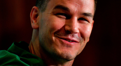 Johnny Sexton during an Ireland Rugby press conference. Photo: Brendan Moran/Sportsfile