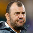 Cheika: Mind games. Photo: AP Photo/Christophe Ena
