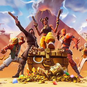 Fired up: 'Fortnite' has become a runaway hit and is played online by 250 million people.