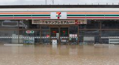 A flooded shop is seen in the aftermath of Typhoon Hagibis, which caused severe floods, near the Chikuma River in Nagano Prefecture, Japan. Photo: REUTERS/Kim Kyung-Hoon