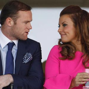 Wayne and Coleen Rooney, left, and Jamie and Rebekah Vardy, right