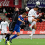 Ireland U21s' Adam Idah contests a high ball against Patrik Sigurður Gunnarsson, left, and Ísak Óli Ólafsson during their European U21 Championship Group 1 qualifier match between Iceland and Republic of Ireland at Víkingsvöllur in Reykjavik, Iceland. Photo by Eythor Arnason/Sportsfile