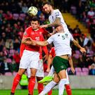 Shane Duffy and John Egan in action against Switzerland's Granit Xhaka. Photo: Sportsfile