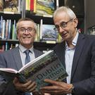 Memories: Seán McGoldrick launches his book about Dublin Marathon with former winner Dick Hooper at Hodges Figgis, Dublin. Photo: Arthur Carron